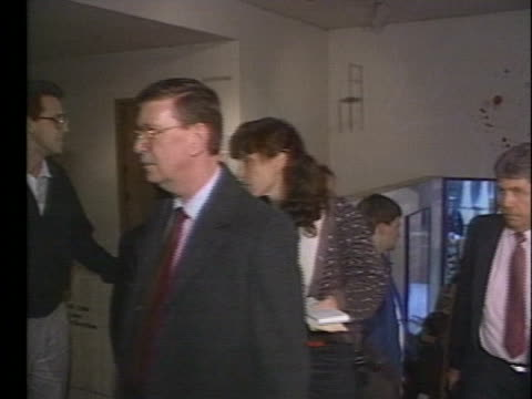 people attending a robert mapplethorpe exhibit leave at the request of police after the contemporary arts center is indicted on obscenity charges. - request stock videos & royalty-free footage