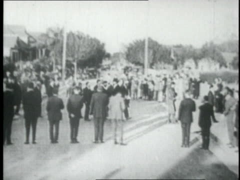 People attending eulogy and funeral of Luther Burbank / Santa Rosa California United States