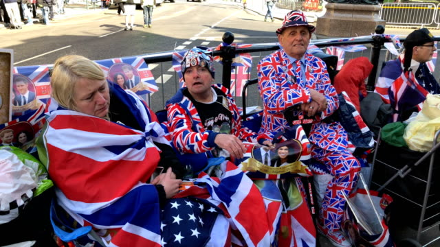 people await the rehearsal of the carriage procession for the wedding of prince harry and meghan markle on may 17 2018 in windsorengland more than... - prince harry stock videos and b-roll footage