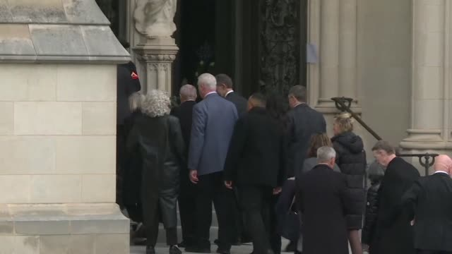 people begin to arrive at washington's national cathedral ahead of the state funeral of the former us president george h w bush - former stock videos & royalty-free footage