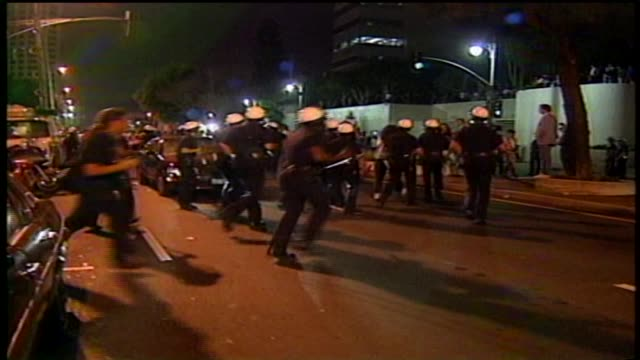 KTLA People Being Arrested During LA Riots and Fires Erupting