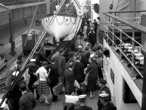People board a passenger ferry at Dover