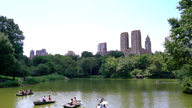 people. boat. relax. central park - central park manhattan stock videos and b-roll footage