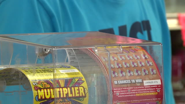 ktxl people buying lottery tickets - lotterie stock-videos und b-roll-filmmaterial