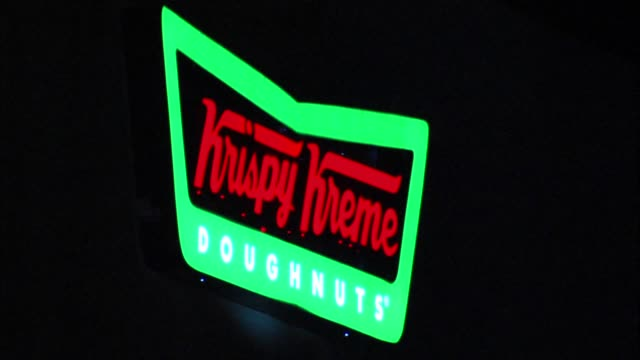 people camp out for krispy kreme grand opening on july 09 2013 in sacramento california - franchising stock videos and b-roll footage