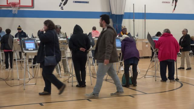 """people cast ballots in the american state of ohio in the 2018 midterm election. historically, ohio is considered a """"swing state"""" in u.s. national... - midterm election stock videos & royalty-free footage"""