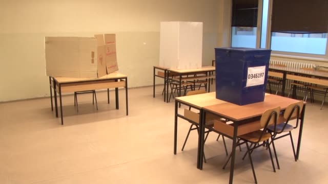 people cast their ballots at a polling station during the referendum regarding celebrating the january 9 as a serbian republic day in banja luka,... - banja luka stock videos & royalty-free footage