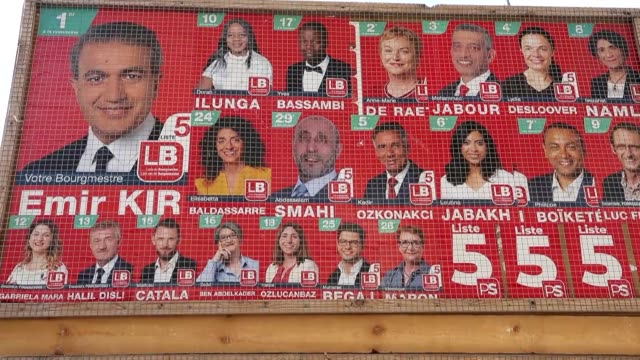 stockvideo's en b-roll-footage met people cast their ballots for the local elections at a polling station in brussels belgium on october 14 2018 interview with turkish origin belgian... - verkiezing
