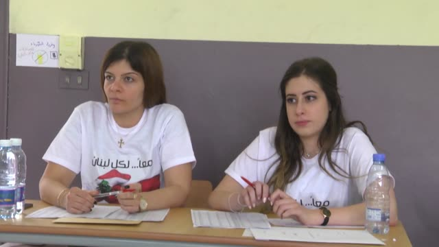 people cast their ballots in the lebanese general elections at a polling station in beirut lebanon on may 06 2018 lebanese voters on sunday began to... - lebanese ethnicity stock videos and b-roll footage