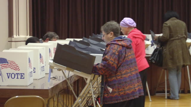 ms, zo, people casting their votes at polling place, toledo, ohio, usa - voting booth stock videos and b-roll footage