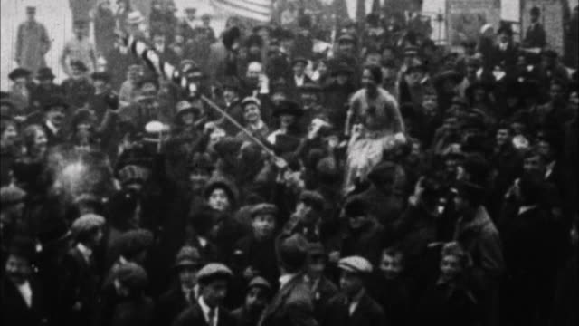 people celebrate end of wwi / france - the end stock videos & royalty-free footage