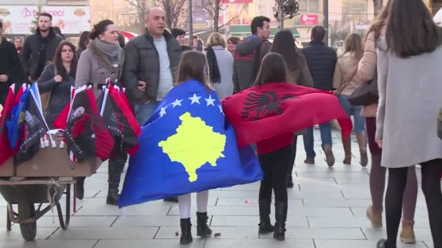 People celebrate in the streets of Pristina to mark 10 years since the country declared independence from Serbia however residents say unemployment...