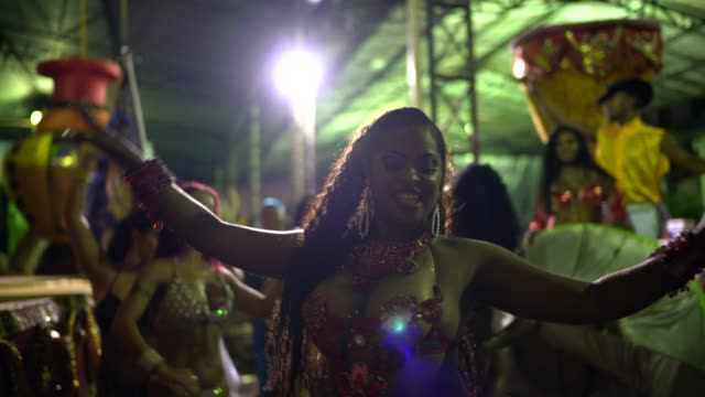 people celebrating and dancing brazilian carnival - organised group stock videos & royalty-free footage