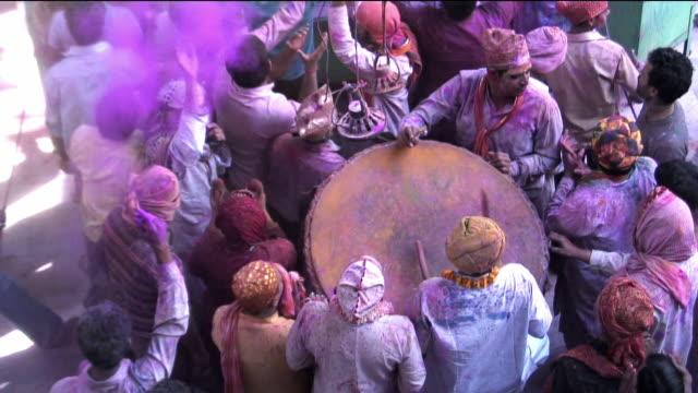 MS People celebrating holi / Uttar Pradesh, India / AUDIO
