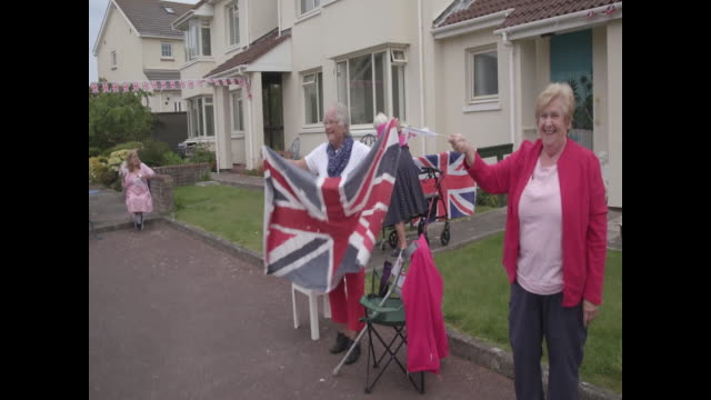 people celebrating liberation day in jersey - channel islands england stock videos & royalty-free footage
