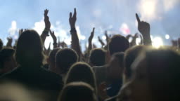 People claping  hands on the grand pop concert
