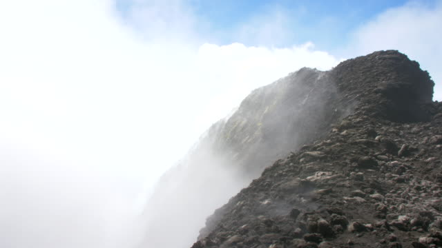 people climbs the mount etna on 29 of september in italy it is the greatest volcano in europe the most active one the youngest one and the one most... - western europe stock videos & royalty-free footage
