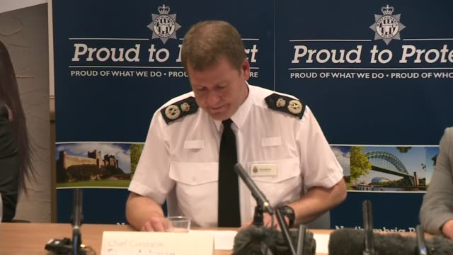 18 people convicted of child sexual abuse in Newcastle ENGLAND Tyne and Wear Newcastle INT Chief Constable Steve Ashman press conference SOT
