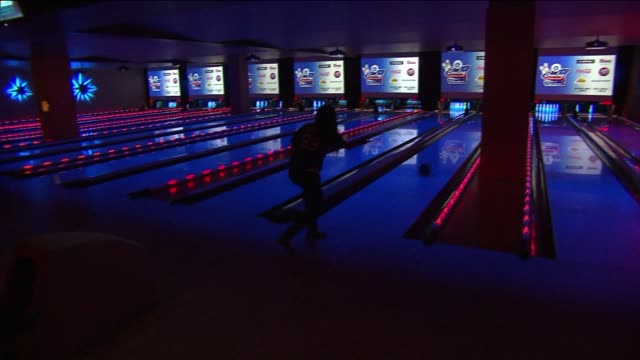 people cosmic bowling on july 29 2013 in studio city california - studio city stock videos & royalty-free footage