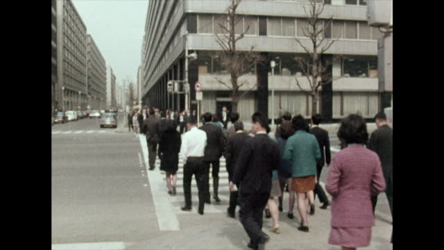 people crossing a road in tokyo; 1972 - 1972 stock videos & royalty-free footage
