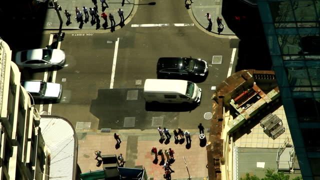 people crossing a street - hd 25 fps stock videos & royalty-free footage