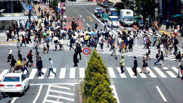 People crossing Shibuya