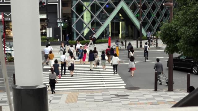 日本過街的人 - 組織 個影片檔及 b 捲影像