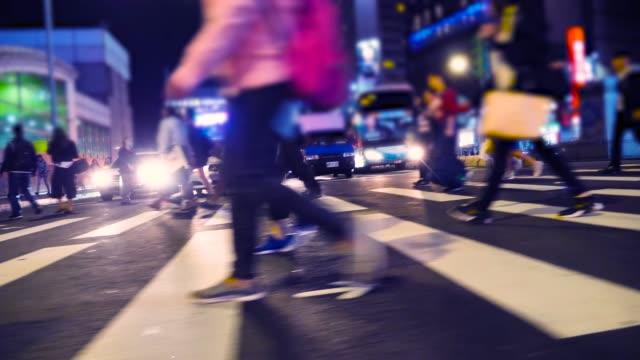 people crossing street - taiwan stock videos & royalty-free footage