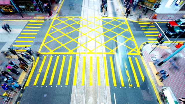 People Crossing Street,time lapse