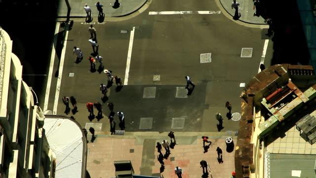 people crossing the street - hd 25 fps stock videos & royalty-free footage