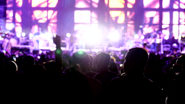 people crowd listen to concert - live event stock videos & royalty-free footage