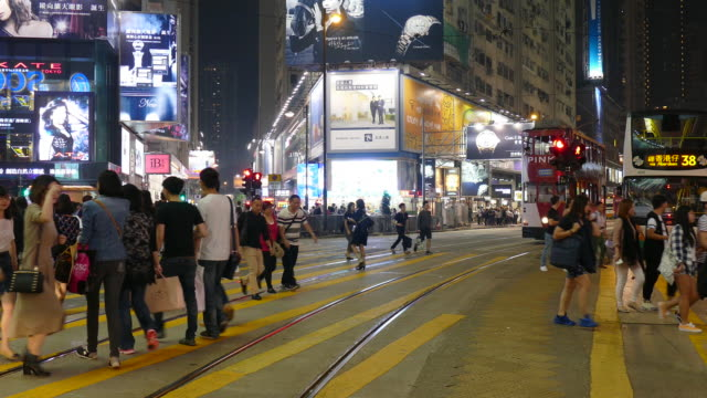 people crowded in Hong Kong
