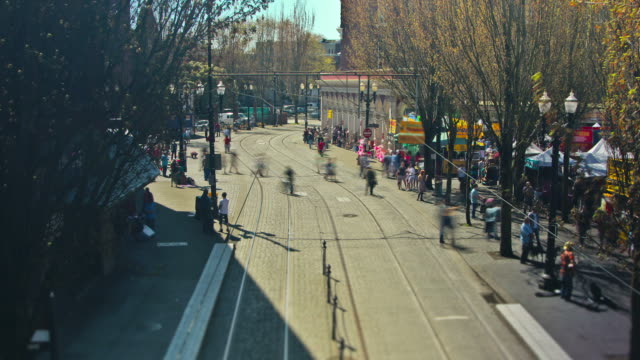 people crowds - portland oregon stock videos & royalty-free footage