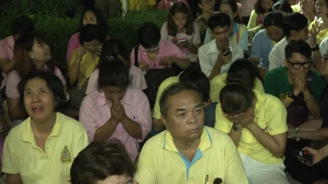 People cry pray and yell 'Long Live the King' after learning of the death of Thailand's King Bhumibol Adulyadej in Bangkok Thailand King Bhumibol the...