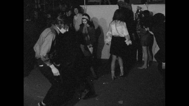 people dance at alternative night club, london; 1967 - medium shot stock videos & royalty-free footage