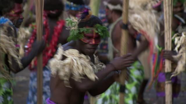 people dance at tribal toka festival, tanna island, vanuatu - traditional ceremony stock videos & royalty-free footage