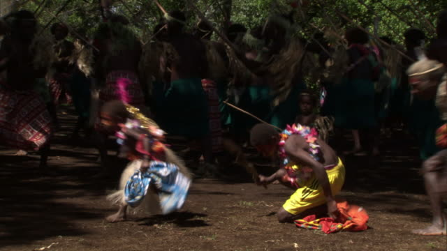 people dance at tribal toka festival, tanna island, vanuatu - traditional dancing stock videos and b-roll footage