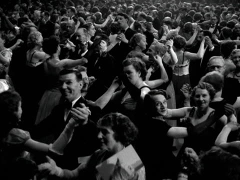 people dance to a new waltz specially commissioned for the coronation of elizabeth ii - 1953 stock videos and b-roll footage