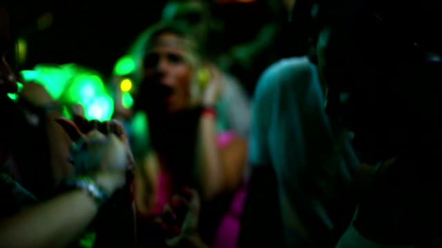 People dancing at a party.