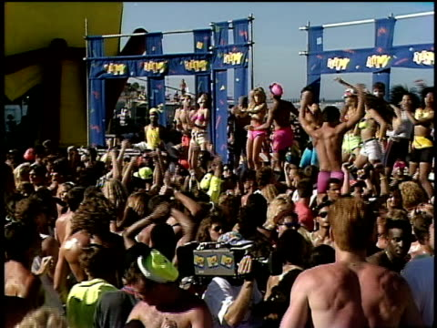 people dancing at spring break party on beach - 1990 stock videos & royalty-free footage