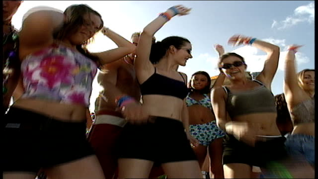people dancing in bathing suits in cancun - 2000s style stock videos & royalty-free footage