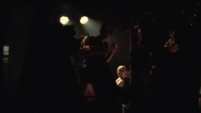ms pan people dancing in nightclub - disco dancing stock videos & royalty-free footage