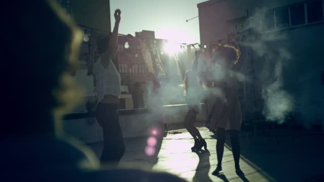 people dancing on rooftop - cape town stock videos & royalty-free footage