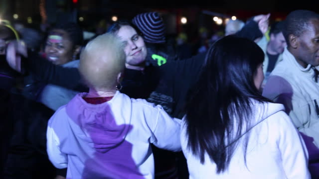ms people dancing together at night / soweto, gauteng, south africa, audio - soweto stock videos and b-roll footage
