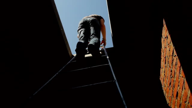 people down to the cellar - ladder stock videos & royalty-free footage