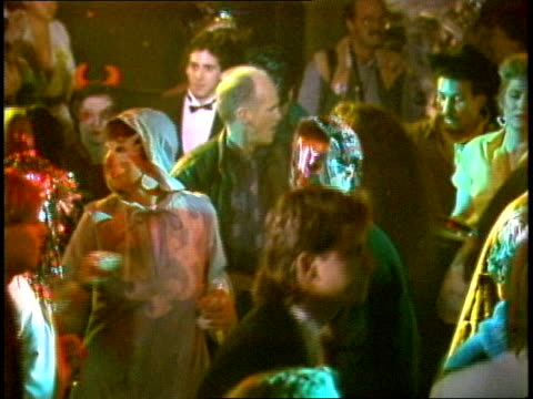 people dressed in costumes dancing in nyc club - 1985 stock videos & royalty-free footage