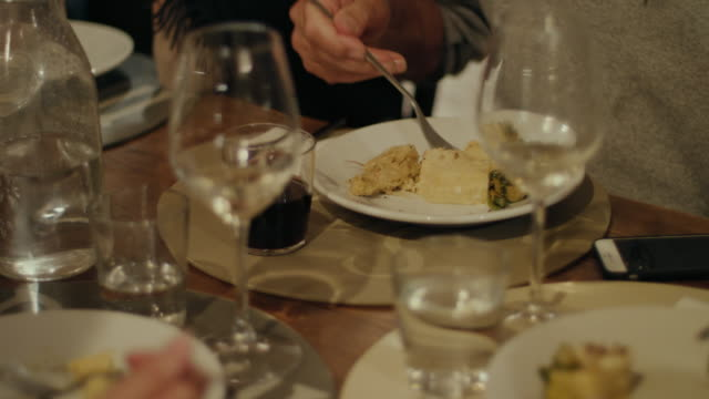 people eating dinner - wine glass stock videos and b-roll footage