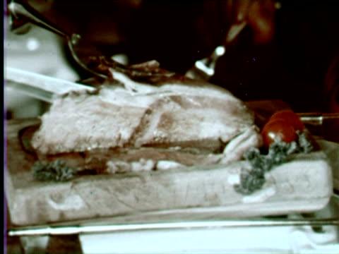 ms cu people eating food and wine in airplane, portugal / audio - air stewardess stock videos & royalty-free footage