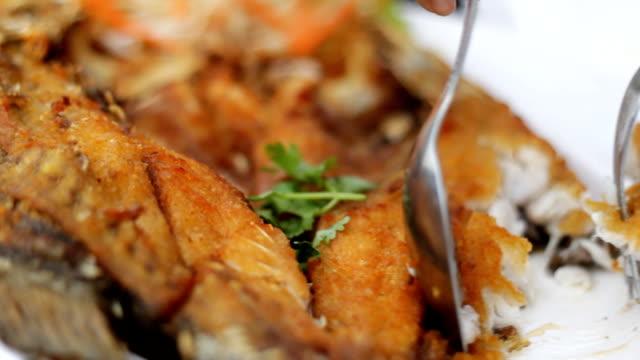 people eating thai food cu - thai food stock videos and b-roll footage