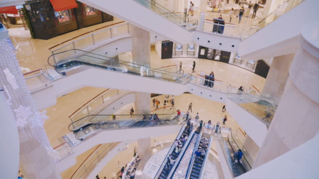 taipei -taiwan: people enjoy shopping in taipei 101 mall - art gallery stock videos & royalty-free footage